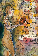 Women Painting Originals - No One Can Take Your Soul by Ilisa  Millermoon