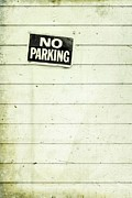 Label Framed Prints - No Parking Framed Print by Priska Wettstein