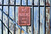 Law Enforcement Art Framed Prints - No Parking Sign Framed Print by Ray Laskowitz