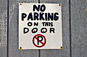 Susan Leggett Framed Prints - No Parking Framed Print by Susan Leggett