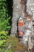 Wood Carving Sculpture Prints - No Place like Gnome Home I Print by Eric Knowlton