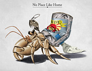 Crab Posters - No Place Like Home Poster by Rob Snow