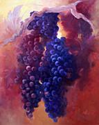 Grapevines Prints - No Sour Grapes Print by Gail Salituri