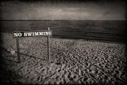 Sign Photo Framed Prints - No Swimming Framed Print by Evelina Kremsdorf