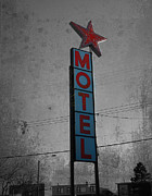 Artist Greeting Cards Prints Art - No Tell Motel by Jerry Cordeiro