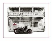 Motorbike Posters - No Trespassing Poster by Mal Bray