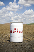 No Trespassing Prints - No Trespassing, Wheat Field, Palouse, Washington Print by Paul Edmondson