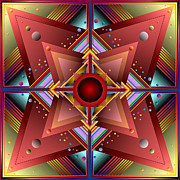 Op Art Digital Art Originals - No Way Out by Ken Schneider