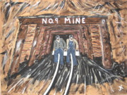 Miners Paintings - No Windows Down There.  by Jeffrey Koss