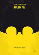 Batman Digital Art - No008 My Batman minimal movie poster by Chungkong Art