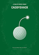 Golf Club Prints - No013 My Caddy Shack minimal movie poster Print by Chungkong Art