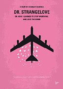 Best Digital Art - No025 My Dr Strangelove minimal movie poster by Chungkong Art