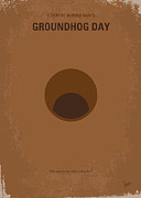 Groundhog Digital Art - No031 My Groundhog minimal movie poster by Chungkong Art