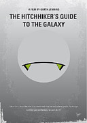Spaceship Digital Art - No035 My Hitchhiker Guide minimal movie poster by Chungkong Art