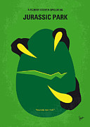 Best Digital Art Posters - No047 My Jurasic Park minimal movie poster Poster by Chungkong Art