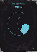 Moon Digital Art Prints - No053 My Moon 2009 minimal movie poster Print by Chungkong Art