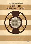 Clooney Metal Prints - No055 My O Brother Where Art Thou minimal movie poster Metal Print by Chungkong Art