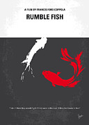 Fight Digital Art Metal Prints - No073 My Rumble fish minimal movie poster Metal Print by Chungkong Art