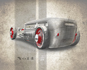 Automobile Drawings Posters - No.14 Poster by Jeremy Lacy