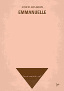 Erotic Digital Art - No160 My Emmanuelle minimal movie poster by Chungkong Art