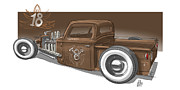 Old Car Drawings - No.18 by Jeremy Lacy