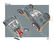 Hot Rod Car Prints - No.19 Print by Jeremy Lacy