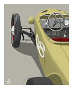 Old Car Drawings Posters - No.8 Poster by Jeremy Lacy