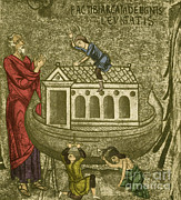 Flood Prints - Noah Building The Ark Print by Photo Researchers