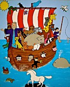 Noah Paintings - Noahs Ark #2 by Stephanie Moore