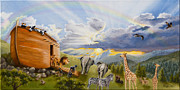 Noah Paintings - Noahs Ark by Cheryl Allen