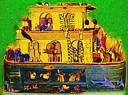 Noahs Ark Painting Metal Prints - Noahs Ark From My Point Metal Print by Deborah MacQuarrie