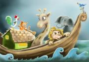 Ark Digital Art Prints - Noahs Ark Print by Hank Nunes
