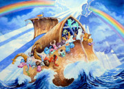 Noahs Ark Painting Metal Prints - Noahs Ark Metal Print by Hanne Lore Koehler