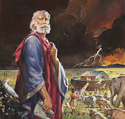 Bible Painting Posters - Noahs Ark Poster by James Edwin McConnell