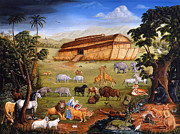 Ark Paintings - Noahs Ark by Joseph Holodook