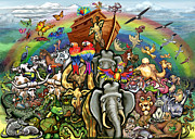 Noah Paintings - Noahs Ark by Kevin Middleton