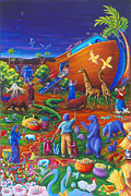 Noah Framed Prints - Noahs Ark Framed Print by Marilyn Ponty Salzano