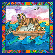 Corwin Paintings - Noahs Ark by Pamela  Corwin