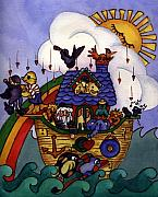 Noah Paintings - Noahs Ark by Patricia Halstead