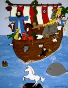 Noah Paintings - Noahs Ark by Stephanie Moore