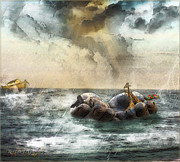 Safe Haven Posters - Noahs Ark Stragglers Poster by Rhonda Strickland