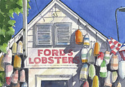 Bouys Paintings - Noank Landmark by Marsha Elliott