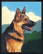 Noble German Shepherd Dog Print by Shawn Shea
