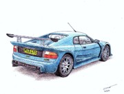 Automotive Drawings - Noble M12 GTO by Dan Poll