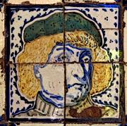 Olden Mexico - Noble Portrait in Tiles