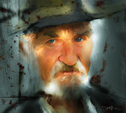 Old Man Digital Art Prints - Nobody Knows Print by Bob Salo
