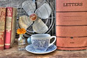 Antique Fan Prints - Nobody Writes Letters Anymore Print by Jane Linders