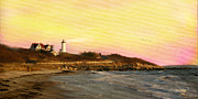 Cape Cod Mass Mixed Media Prints - Nobska Light Print by Michael Petrizzo