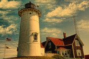 Cape Cod Digital Art Framed Prints - Nobska Lighthouse II Framed Print by Gina Cormier