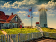 Cape Cod Digital Art Framed Prints - Nobska Lighthouse III Framed Print by Gina Cormier